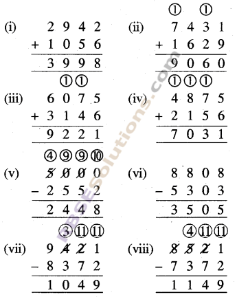 RBSE Solutions for Class 5 Maths Chapter 2 जोड़-घटाव Ex 2.1
