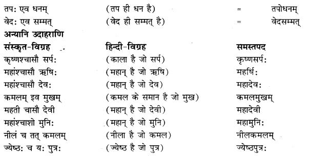 RBSE Class 10 Sanskrit व्याकरणम् समासः image 10 b