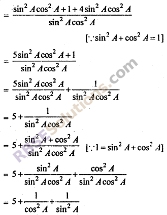 RBSE Solutions for Class 10 Maths Chapter 7 Trigonometric Identities Ex 7.1 26