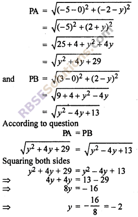 RBSE Solutions for Class 10 Maths Chapter 9 Co-ordinate Geometry Ex 9.1 20