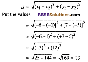 RBSE Solutions for Class 10 Maths Chapter 9 Co-ordinate Geometry Ex 9.1 7