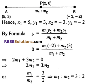 RBSE Solutions for Class 10 Maths Chapter 9 Co-ordinate Geometry Ex 9.2 7