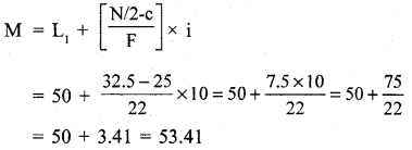 RBSE Solutions for Class 11 Economics Chapter 9 Median 22