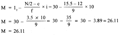 RBSE Solutions for Class 11 Economics Chapter 9 Median 50
