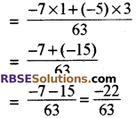 RBSE Solutions for Class 8 Maths Chapter 1 Rational Numbers Ex 1.1 13