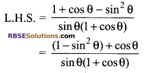 RBSE Solutions for Class 9 Maths Chapter 14 Trigonometric Ratios of Acute Angles Additional Questions - 35