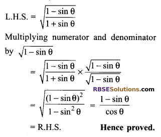 RBSE Solutions for Class 9 Maths Chapter 14 Trigonometric Ratios of Acute Angles Ex 14.3 - 16