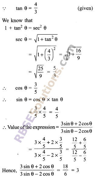 RBSE Solutions for Class 9 Maths Chapter 14 Trigonometric Ratios of Acute Angles Miscellaneous Exercise - 21