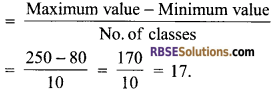 RBSE Solutions for Class 9 Maths Chapter 15 Statistics Additional Questions - 6