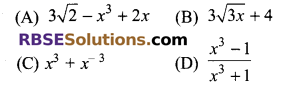 RBSE Solutions for Class 9 Maths Chapter 3 Polynomial Additional Questions 3