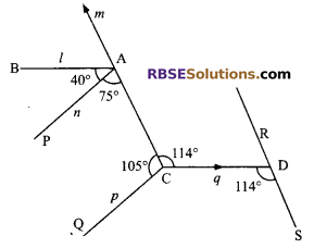 RBSE Solutions for Class 9 Maths Chapter 5 Plane Geometry and Line and Angle Miscellaneous Exercise 17
