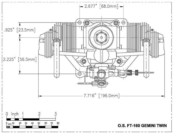 The RC Engine: The O.S. FT 160 Gemini Twin.