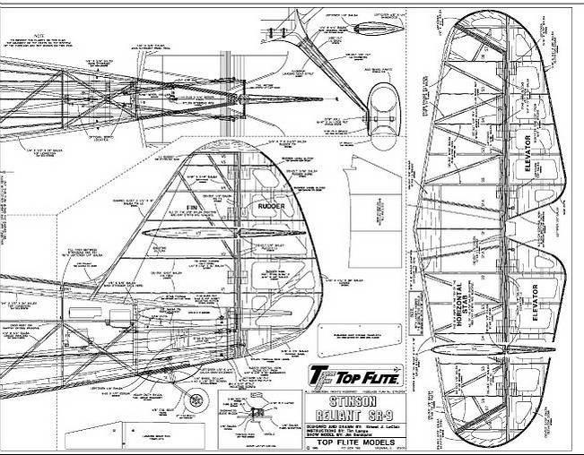 RC Model Airplane Kits: The Top Flite Stinson Reliant.