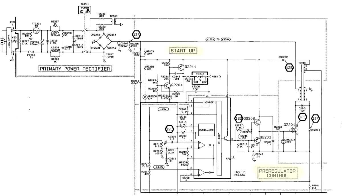 Tektronix 2245A Oscilloscope, SMPS repair & re-cap
