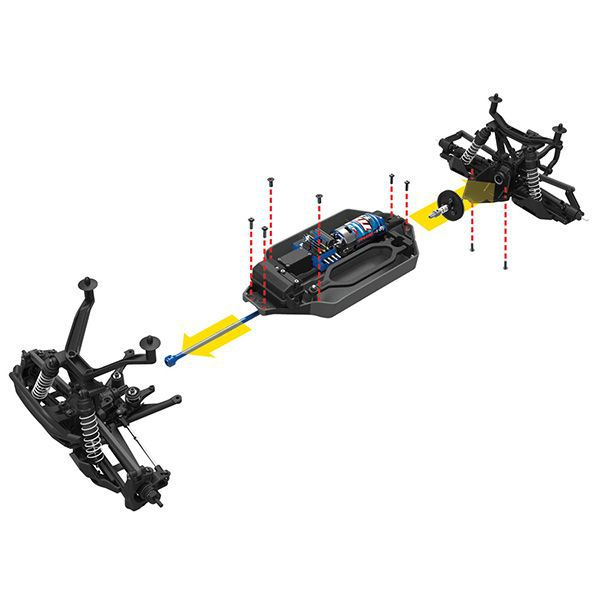 Stampede xl-5 4wd traxxas 67054-1 batterie id chargeur