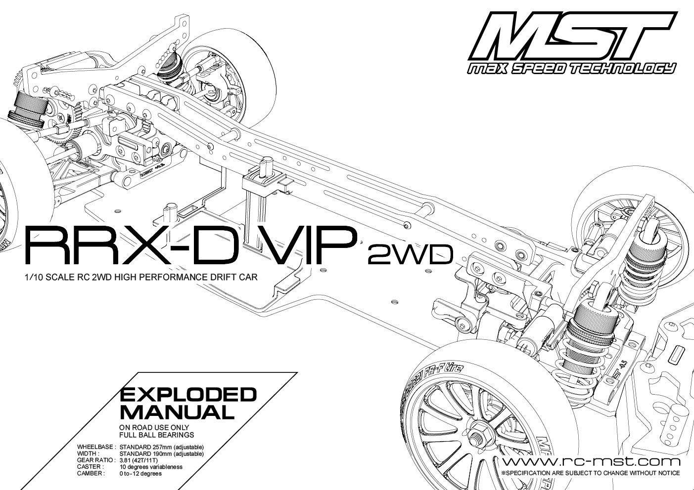 hight resolution of rrx d vip 2wd exploded manual