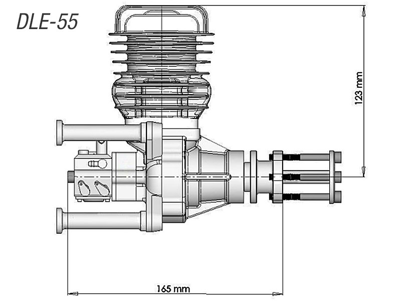 DLE55 model airplane engine
