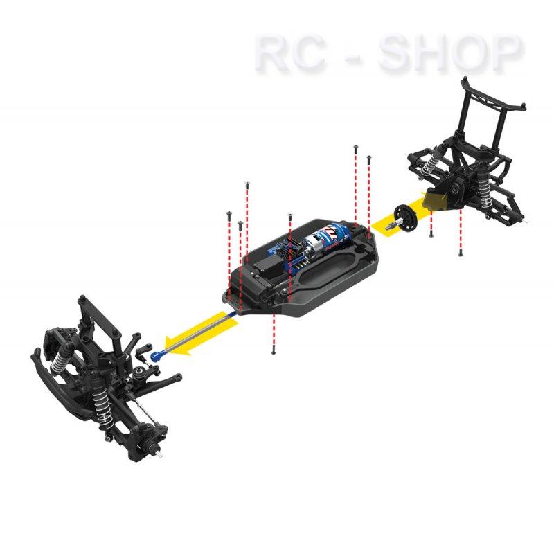 TRAXXAS Telluride 4x4 XL-5 2.4GHz +12V-Lader 1:10 4WD
