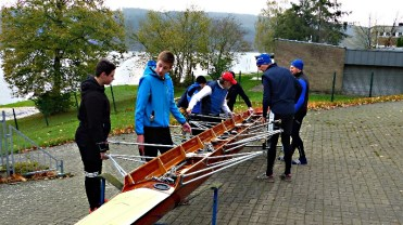 Vorbereitungen für die letzte gemeinsame Trainingsfahrt