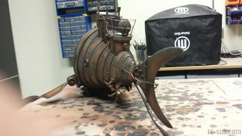 Steampunk Submarine in 132 scale  The Brass Bass