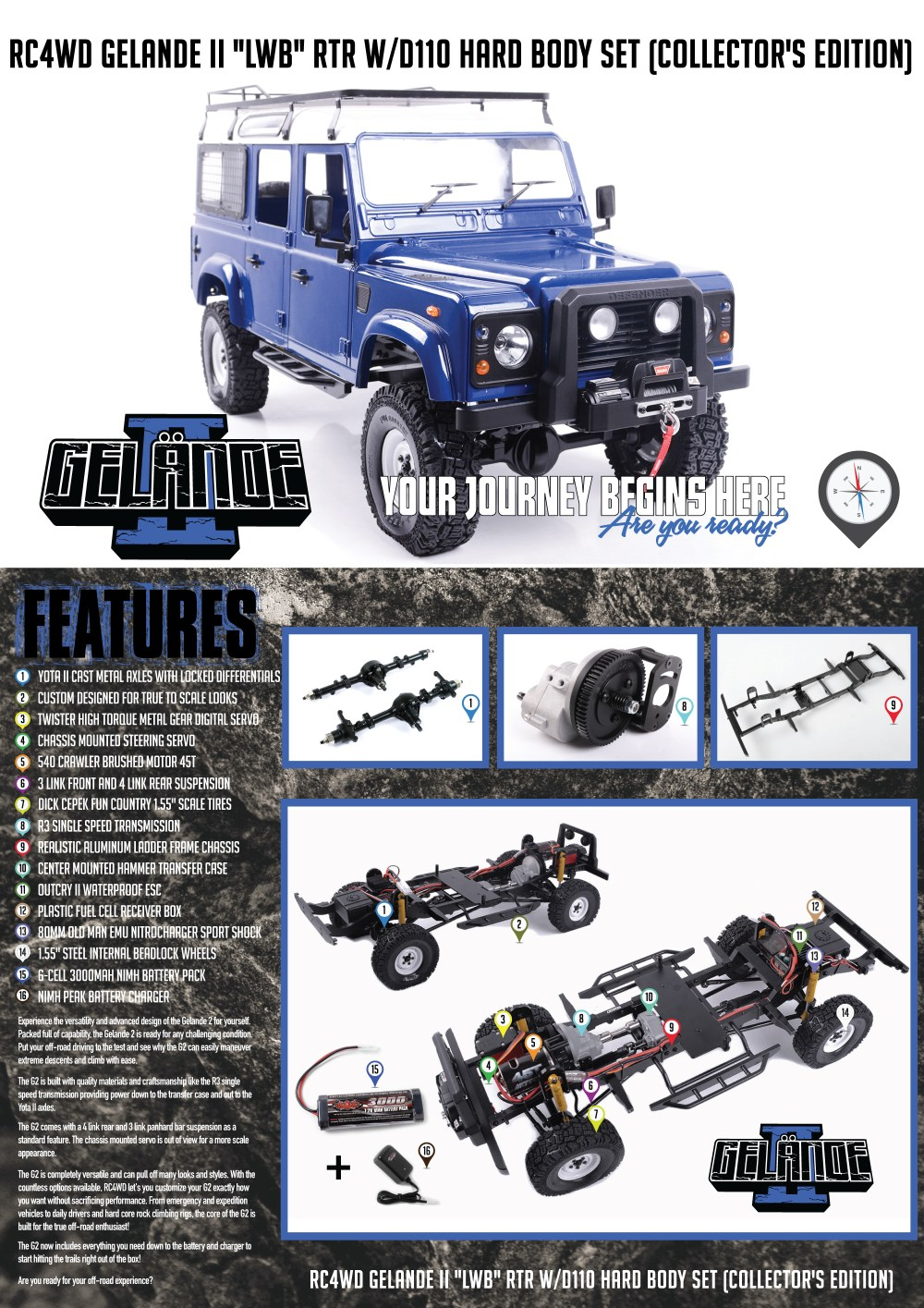 medium resolution of  w d110 hard body set collector s edition was put together with the scale driver in mind there s a limited quantity that will be released of these