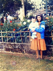 Mother and Child. This photo was taken year 1993 (1992) in Burnham Park, Baguio City.