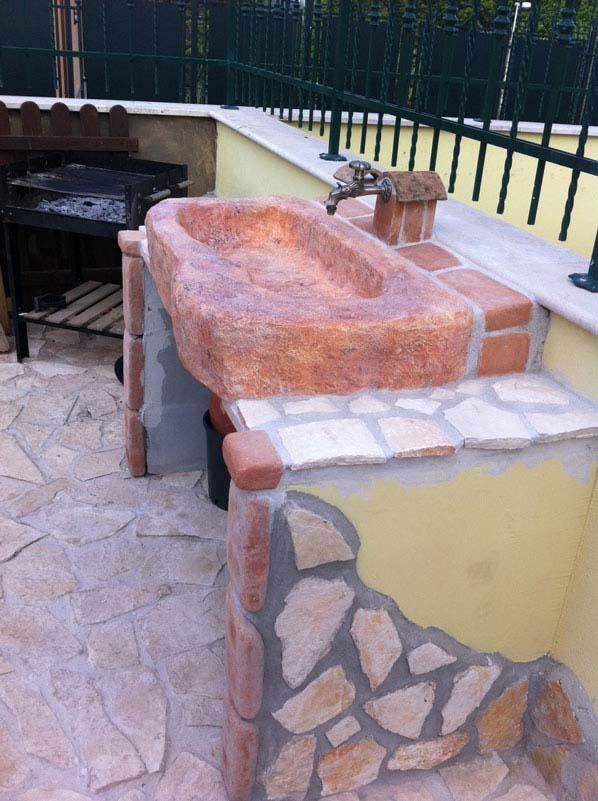 Lavello da giardino Tovel con supporti  RC di Rinaldi geom Franco