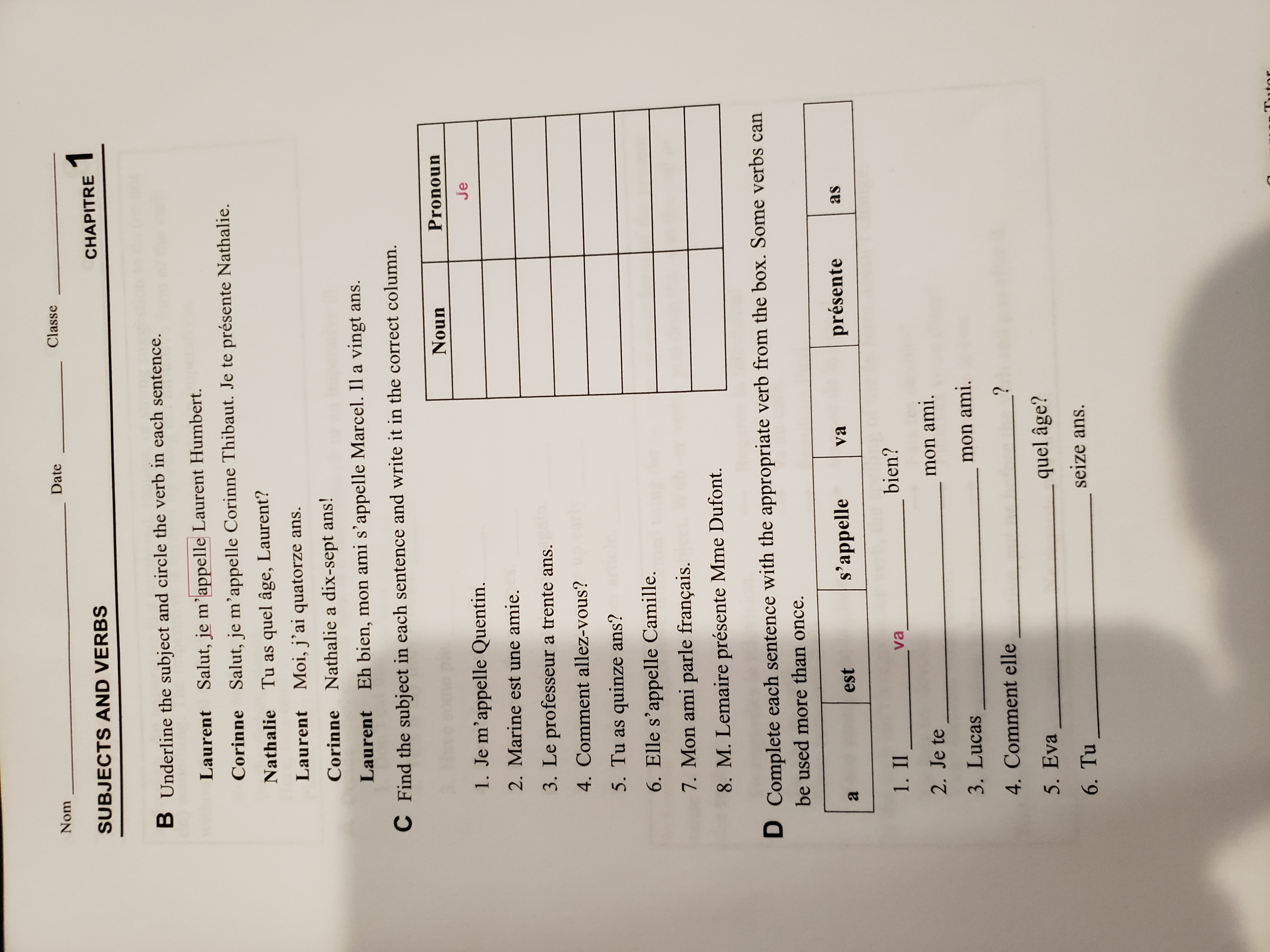 Pauvre Anne Worksheet Answers