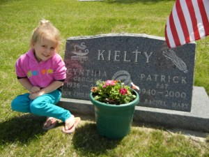 The youngest grandchild who will never remember her grandparents