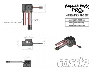 Mamba Max Pro SCT ESC And Neu-Castle 1415-2400kv Motor