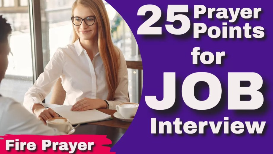 Prayer points for Job and Interview
