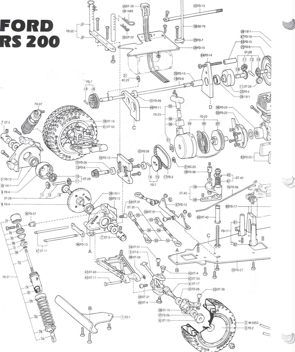 Kyosho KYOC0510 3013 Ford RS 200 w/OS .10 Page