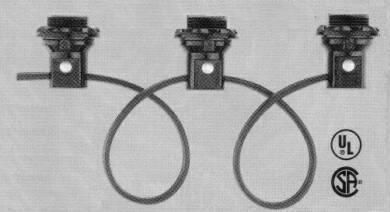 H024-2, Phenolic Threaded Candelabra Base Sockets and Harness