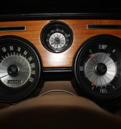 matt b s 1968 cougar with g1s mini tach in his custom wood dash [ 1202 x 801 Pixel ]