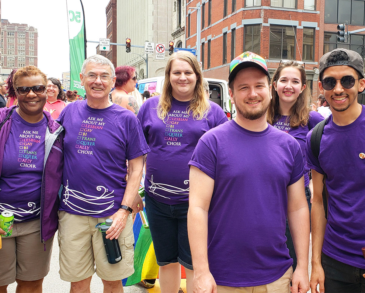 Renaissance City Choir at Pittsburgh Pride March