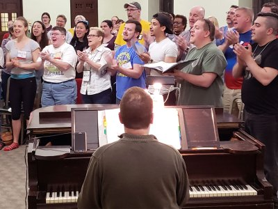Renaissance City Choir rehearsal
