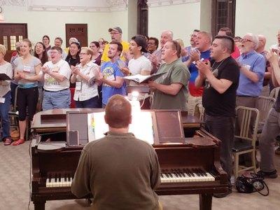 Renaissance City Choir rehearsal