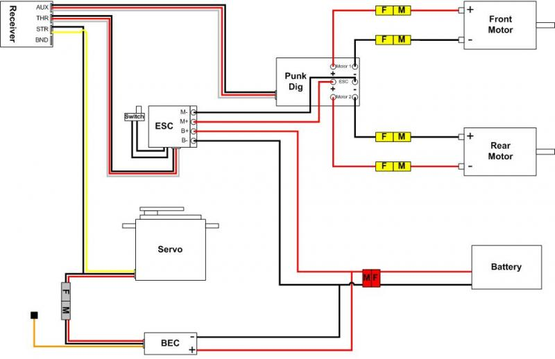 Rc Helicopter Receiver Wiring Diagram On Rc Twin Motor Wiring Diagram