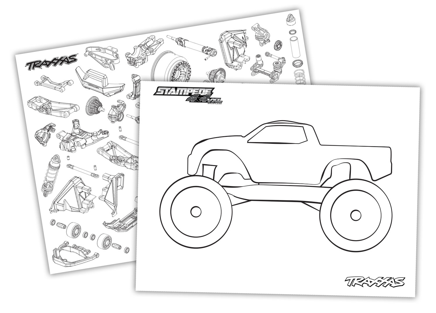 Time To Color! Get Creative With Traxxas RC Themed