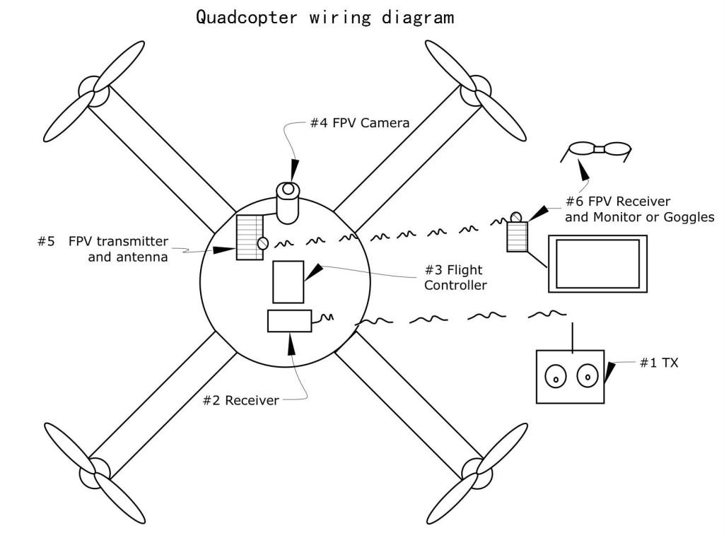 quadcopter wiring schematic