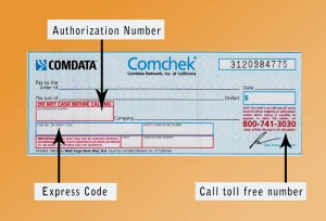 Comchek Blank Instructions