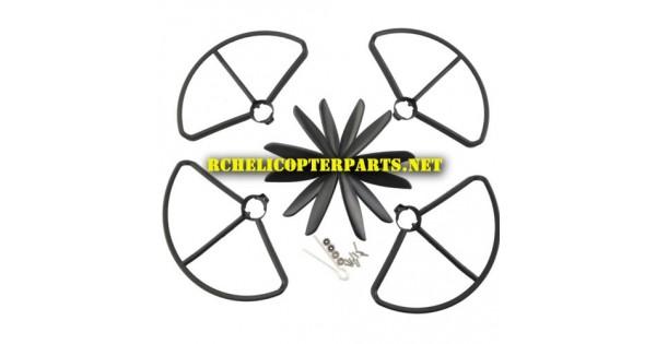 F18-44 Crash Kit Pack Main Blades, Prop Guards & Aluminum