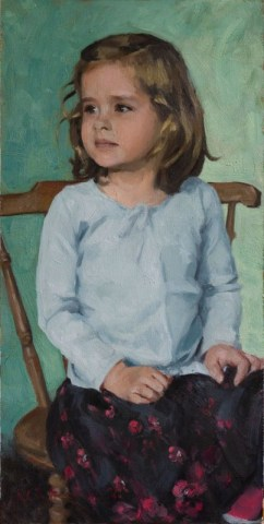 Child Portrait - oil on board 2007