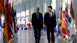Entretien téléphonique entre Justin Trudeau et Joe Biden