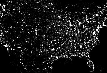 Image satellite de lAm233rique du Nord On voit clairement