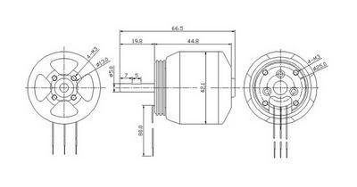 Turborix RC 1500g 3D Plane 1300kv (rpm/v) D4540 Outrunner
