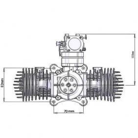 DLA112 CNC Processed Gasoline Engine/Petrol Engine 112CC