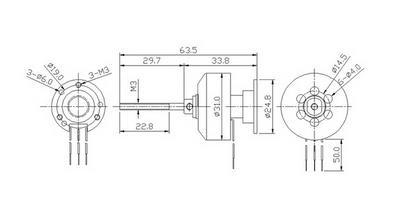 Turborix RC 600g 3D Plane 1000kv (rpm/v) D3125 Outrunner