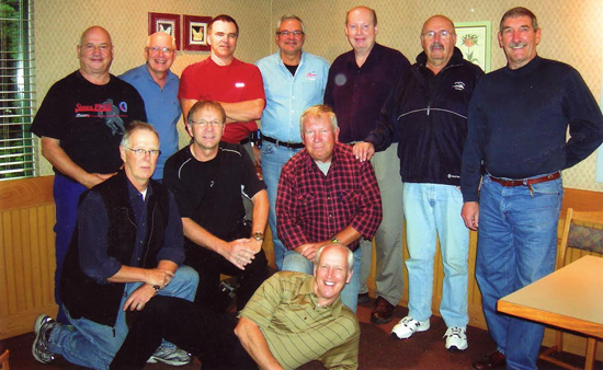Photograph of Veterans who attend the Maple Ridge Koffee Klatch (Source of photo - Daryl Stone).