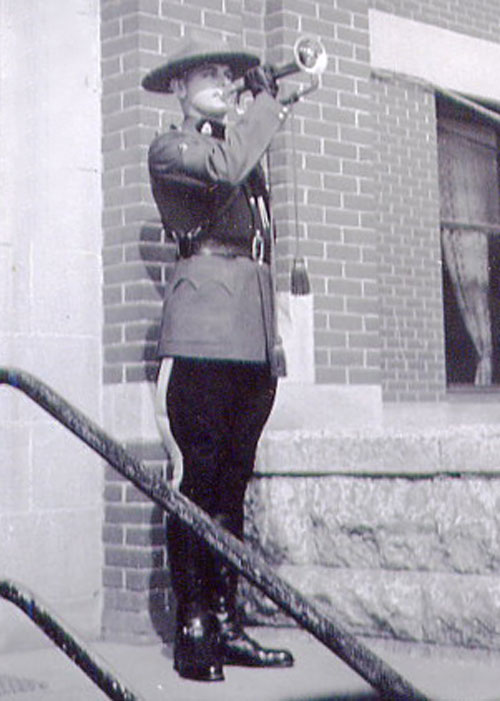 Photograph of RCMP Trumpeter at Depot Division - 1951
